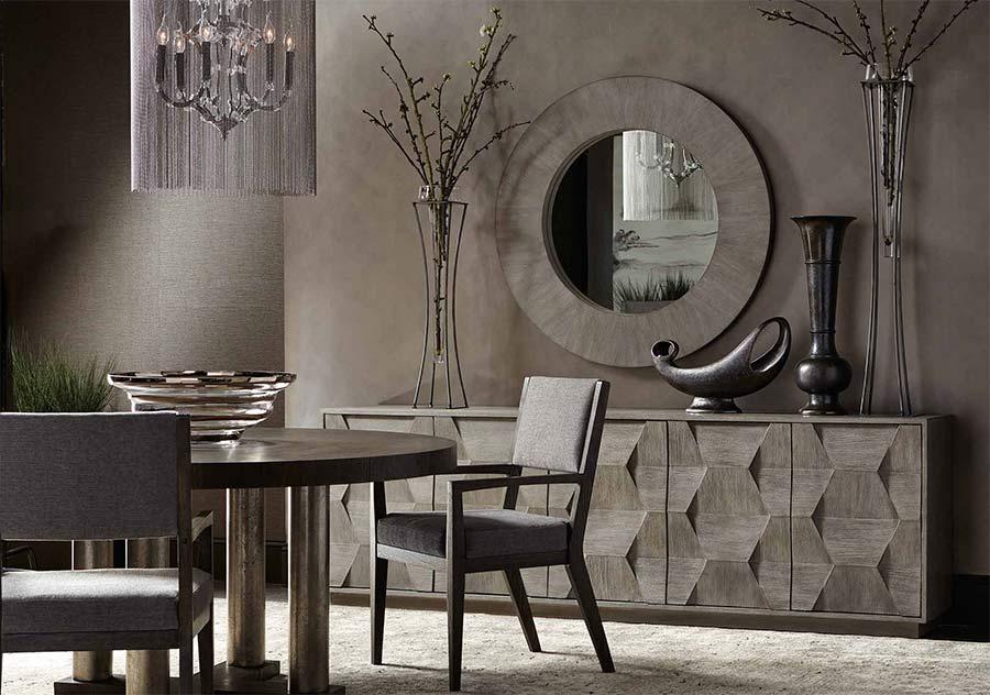 Interior design sketch of a remodeled dining room.
