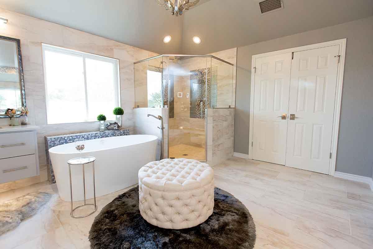 Remodeled bathroom in Austin