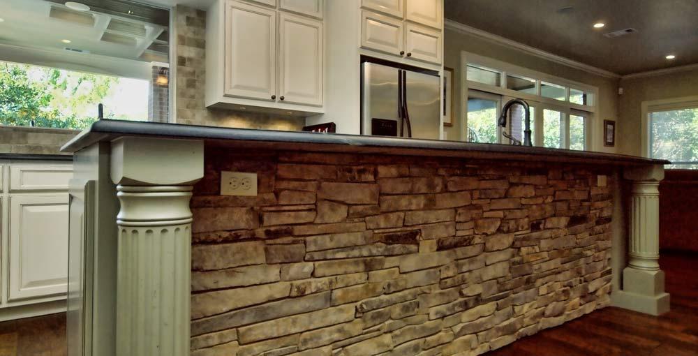 Kitchen Island With Textured Stone Front   2303 Designs   Interior ...