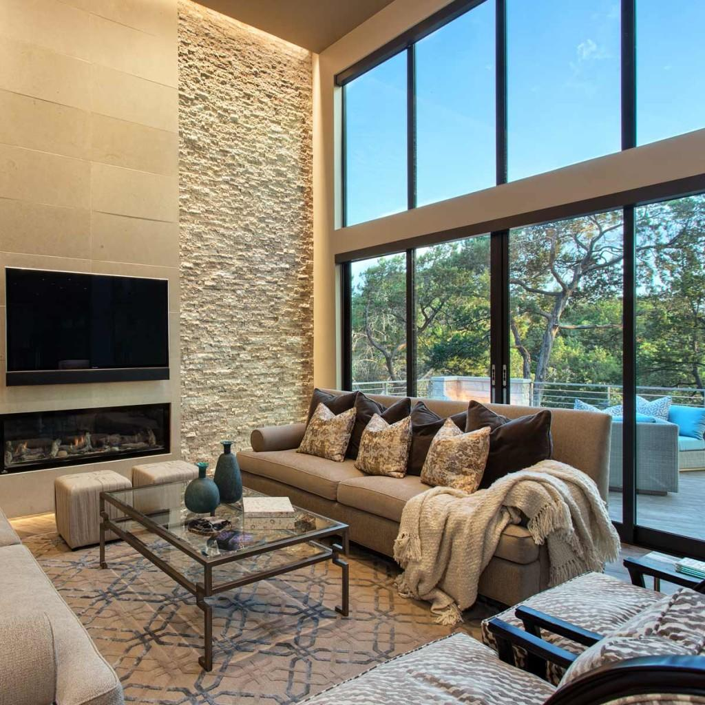 Austin home remodelled with larger family room window