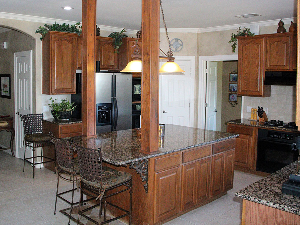 kitchen remodel with granite island