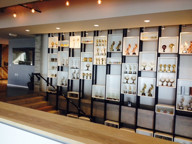 2303 Designs created the display case at Latin Works, Austin