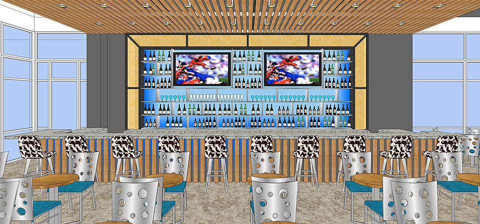 Another design for restaurant bar