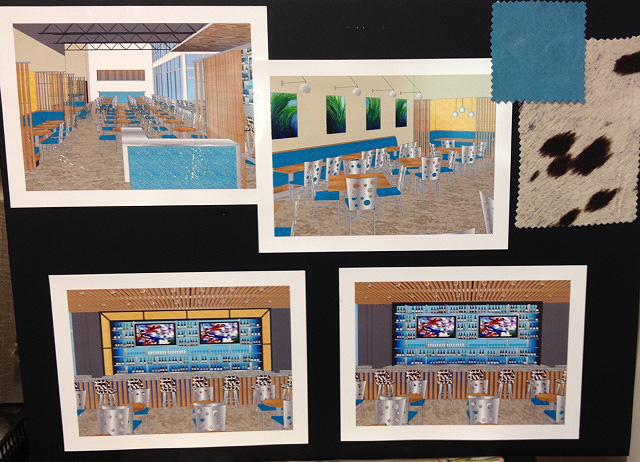Images of a new restaurant design.